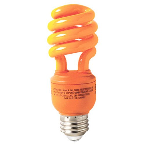 GE Lighting 78958 Energy Smart CFL Party Light 13-Watt Orange T3 Spiral Light Bulb with Medium Base (25-watt replacement) 1-Pack