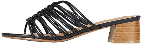 find Weave Block Heel Mules