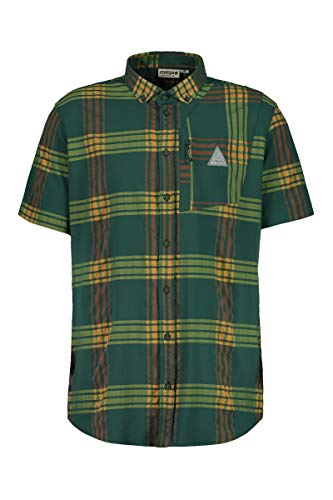 Maloja Falzm 1/2 T-Shirt Technique Multisport pour Homme M Carreaux (Stone Pine Check)