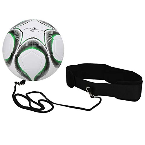 WNSC Entraîneur de Football, Ceinture réglable Facile à Utiliser Améliorer la capacité de réponse Kit de Pratique du Football pour Le Football pour l'entraînement des étudiants(Vert)