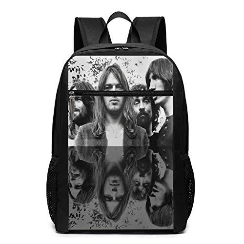 Mochila escolar F-l-o-y-d rosa para hombres y mujeres, mochila para ordenador portátil, mochila universitaria, mochila escolar con bolsillos laterales
