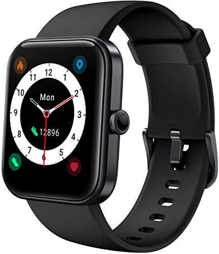 YSNJG Reloj Inteligente, De Fitness 1.69 Pulgadas con 14 Modos Deporte, Ritmo Cardíaco Y Monitor Oxígeno En La Sangre, Rastreador Actividades Incorporado Alexa, Smartwatch,Negro