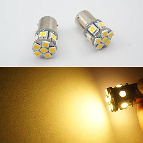 Lot de 2 ampoules LED 6 V 1156 ba15s 12 SMD pour feux de freinage/clignotant/feux de recul AC/DC blanc/jaune/rouge/blanc chaud