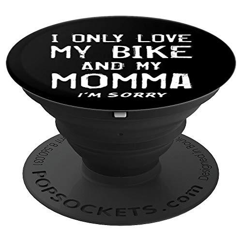 Amo Solo La Mia Bici E La Mia Mamma Ciclista BMX Mother Mom PopSockets Supporto e Impugnatura per Smartphone e Tablet
