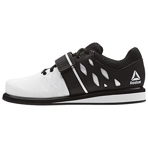 Reebok Men's Lifter PR Weightlifting and Gym Shoes, White/Black, 9 M US
