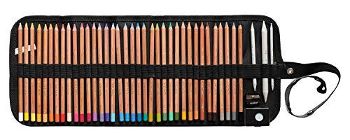 Pastellstifte 36 Stück Gioconda von KOH - I - NOOR im Stiftegürtel + Anspitzer + 3 Papierwischer