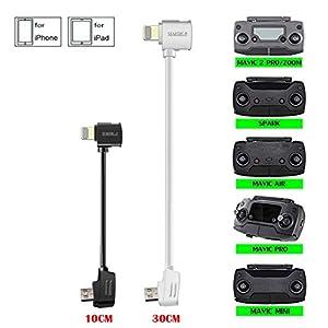 STARTRC 3.9 and 11.8inch OTG Data Line USB Cable to Micro Controller Cable for DJI Mavic Mini/Mavic 2 Pro/Zoom/Mavic Pro/Platinum/Spark/Mavic Air