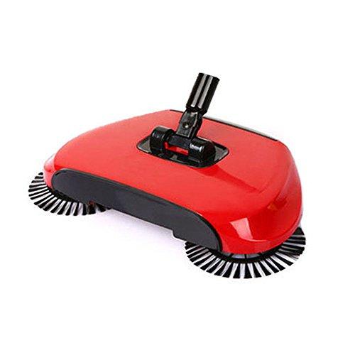 Kehrmaschine ohne Strom Automatische Hand Push Sweeper Besen Haushalt Reinigung rot
