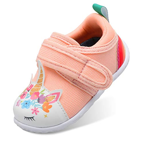 Scurtain Unisex Squeaky Shoes for Baby Boys Baby Girls Toddlers Sneaker for Infant Newborn Toddler Slippers Toddler Shoes Toddler Walking Shoes Light Pink 142