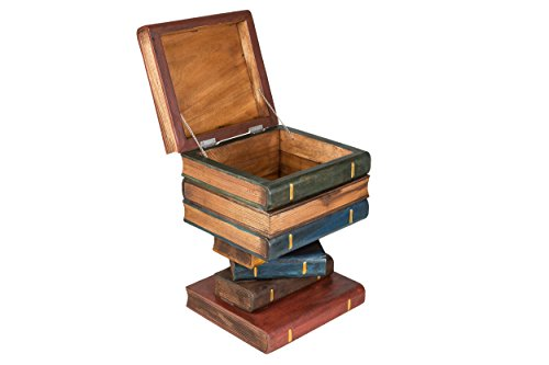 Buchstapel Hocker mit Truhe. Nachttisch, Beistelltisch mit Kiste zur Aufbewahrung ca. 50cm hoch, bunt