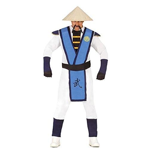 Kung Fu Chino japonés Guerrero Samurai bushido disfraz Karate talla M/L Mono Blau/Weiß/Schwarz Talla única
