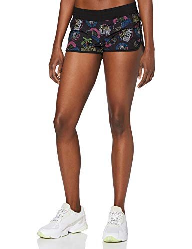 Body Glove Neon Boardshort Pantalon Corto, Mujer, Black, M
