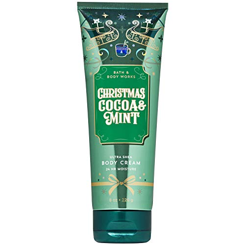 Bath and Body Works CHRISTMAS COCOA & MINT Ultra Shea Body Cream 8 Ounce, 2019 Limited Edition