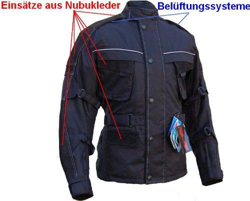 Motorradjacke Jacke Textil/Leder MIT Protektoren Motorrad Bike Chopper Cruiser