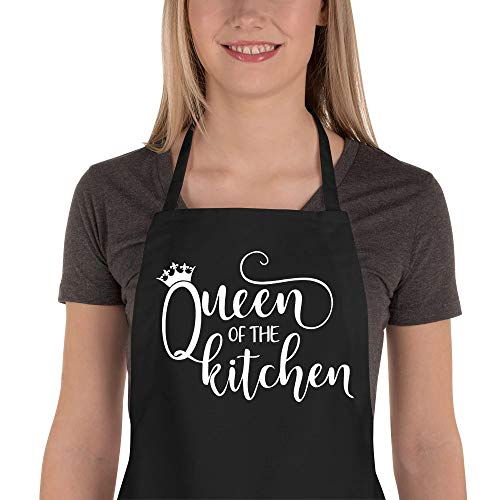 Saukore Funny Aprons for Women - Cute Kitchen Aprons with 2 Pockets for Cooking Baking - Birthday, Thanksgiving, Christmas Apron Gifts for Mom Wife Girlfriend Aunt Grandma