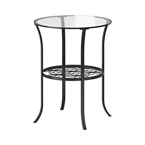 Ikea Beistelltisch für Schlafzimmer, Glas, Schwarz / transparent