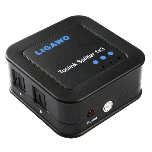 Ligawo 6518741 Audio Verteiler (1x SPDIF-Toslink Eingang auf 3x SPDIF-Toslink Ausgang) schwarz