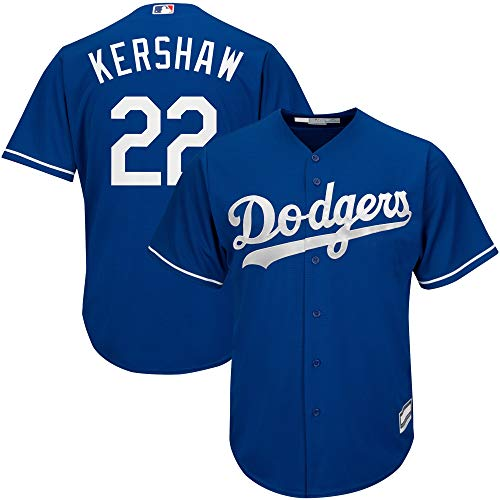 Clayton Kershaw Los Angeles Dodgers MLB Boys Youth 8-20 Player Jersey (Blue Alternate, Youth Medium 10-12)