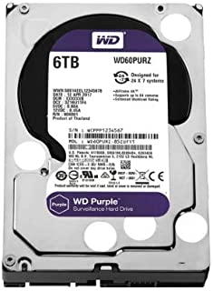 WD Purple 6TB Surveillance 3.5' IntelliPower SATA3 6Gb/S 64MB WD60PURZ