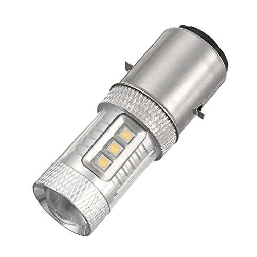 MagiDeal BA20D H6 H L 80W Ampoule LED Voiture Headlight Kit 6000K Feux ATV Moto