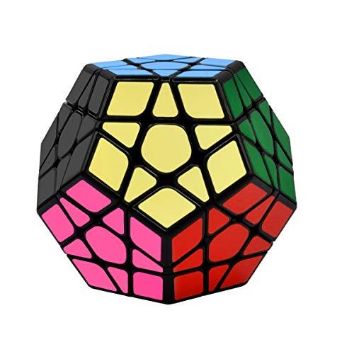 Cooja Cubo Megaminx Speedcube 3x3, Megamix Dodecaedro Cubo 3D Puzzle Cube Juego Inteligencia Regalo Niño