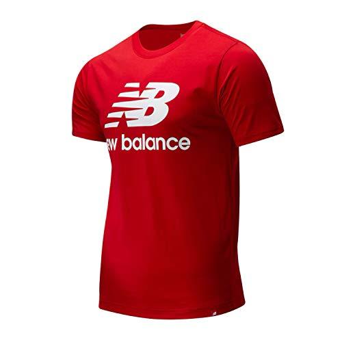 New Balance Essentials Stacked Logo T-Shirt, Rojo, L Mens