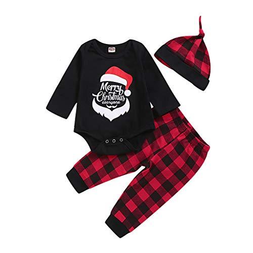 foreverH 3Pcs Baby Outfit Set Long Sleeve Romper Suit Baby Jungen Mädchen Strampler...
