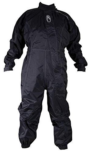Richa, Typhoon - Tuta da moto intera, impermeabile, colore: nero Black XXL regolare