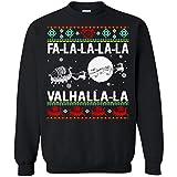 FA-La-La-La-La Valhalla-La Ship Sleigh Reindeer Ugly Shirt - Unisex Sweatshirt