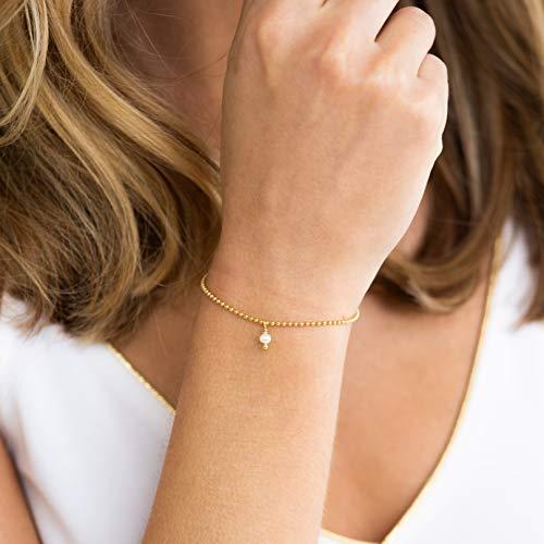 KLEINE PERLE ⸰ goldene Armkette