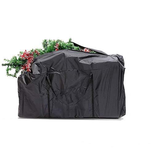 GEMITTO Weihnachtsbaumtasche, Schwere Tasche zur Aufbewahrung von Großen Weihnachtsbäumen und Künstlichen Dekorationen Wasserdicht, Staubdicht, Insektensicher Schwarz 173x76x51cm