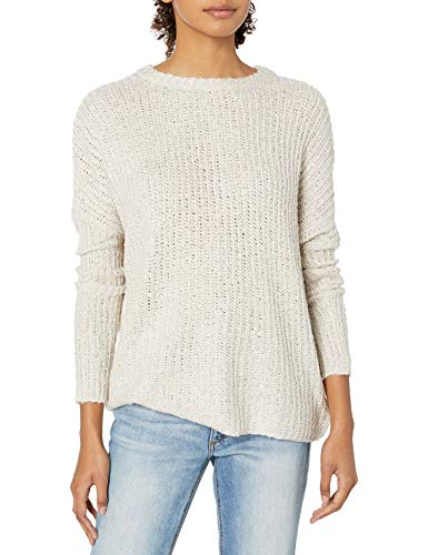 Jack Daniel Damen No Going Textured Dolman Sweater with Button Back Pullover, Hellbeige, L