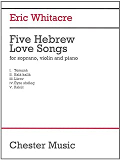 5 Hebrew Love Songs: Soprano, Violin, Tambourine, and Piano Performance Score