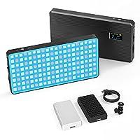 """SMALLRIG RGB LED Light kann mit dem Kugelkopf und einem eingebauten 1/4"""" -20 Anti-Twist-Loch magnetisch befestigt oder direkt an einer Kamera oder einem Käfig montiert werden. Mit Hilfe des mitgelieferten Wabengitters und Lichtdiffusors können Sie au..."""
