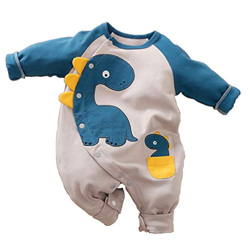 Baby Jungen Mädchen Strampler Dinosaurier Musterdruck Design Baby Süß Langarm Pyjamas Säugling Outfit Overall Schlafanzug Kleidung