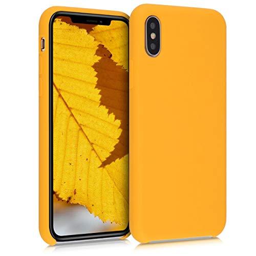 kwmobile Custodia Compatibile con Apple iPhone XS - Cover in Silicone TPU - Back Case per Smartphone - Protezione Gommata Giallo Zafferano