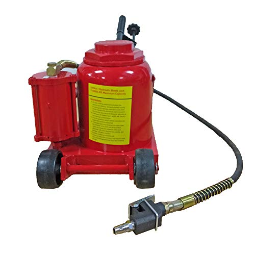 Hydraulic Air Bottle Jack Automotive Car Repair Shop Lift Tool Red (50 Ton), 9-7/8in. - 19-1/2in. Lift Range