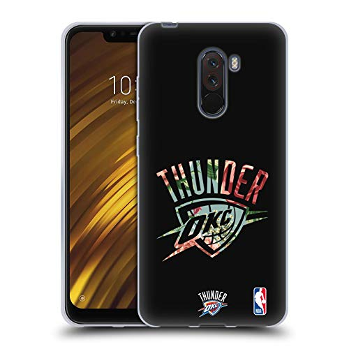 Head Case Designs Oficial NBA Flores 2019/20 Oklahoma City Thunder Carcasa de Gel de Silicona Compatible con Xiaomi Pocophone F1 / Poco F1