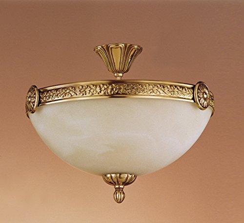 I.F. Fase 936/35/C halterlamp NeoClasico met versieringen en lampenkap, 35 cm, brons, 35 x 29 cm