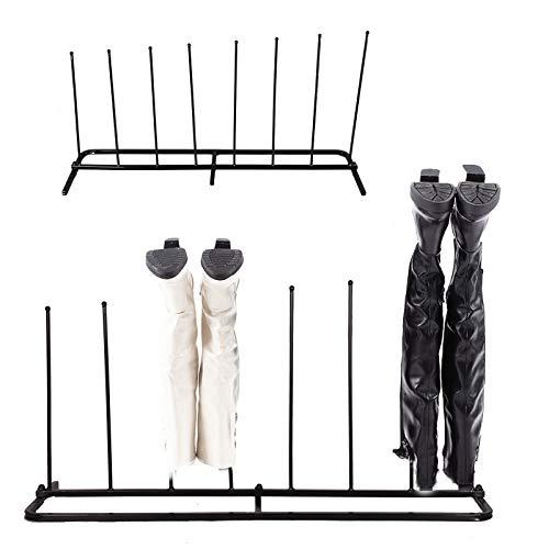 Gummistiefelständer / Stiefelständer - Schwarz - Metall - für innen und außen - für 4 Paar...