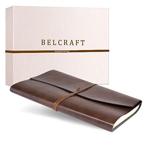 Tivoli A4 großes Notizbuch aus recyceltem Leder, Handgearbeitet in klassischem Italienischem Stil,...
