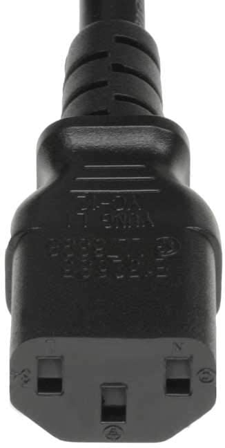 SF Cable 6ft 14 AWG NEMA 6-15P to C13 Power Cord, 15A, 250V Compaitable for for Monitors, Computers, Printers, scanners, TVs, Sound Systems