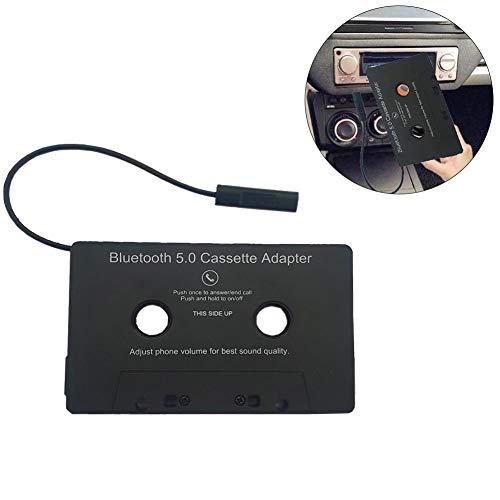 Minimew Convertidor de Cinta, Adaptador de Casete de Audio Bluetooth Universal para Coche a Adaptador Auxiliar, Adaptador de Casete de batería Incorporado para teléfonos Inteligentes