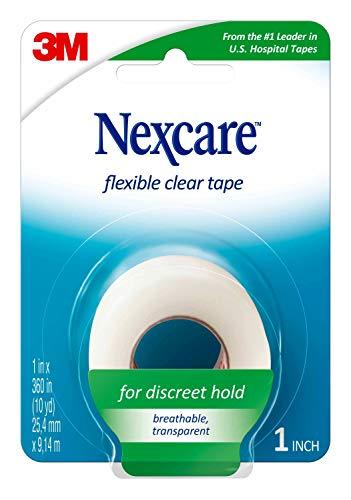 3M 77 Cinta Flexible de Primeros Auxilios Transparente Nexcare: 1 in x 30 ft. (Claro)