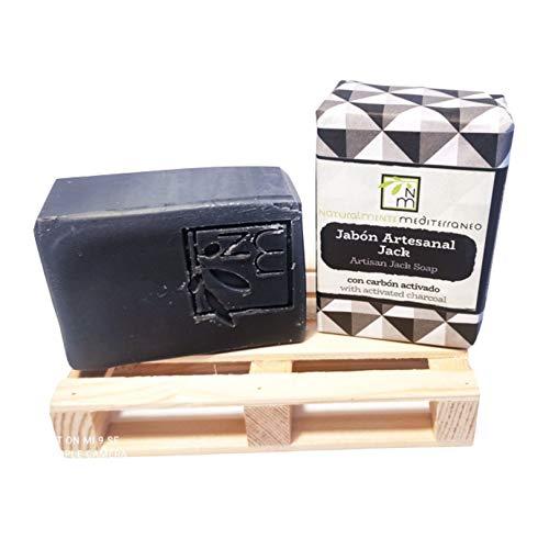 Jabón Natural Ecológico Artesano – Elimina impurezas y acné – Carbón Activado. 2 pastillas