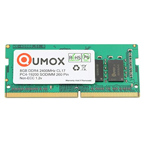 QUMOX 8GB DDR4 2400 2400MHz PC4-19200 PC-19200 (260 Pin) SODIMM Memory 8GB