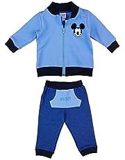 Chándal de 2 piezas para niño de Disney, Mickey Mouse, tallas 68, 74, 80, 86, 92, 98, 104, 110, 116, de algodón, sudadera con capucha o chaqueta y pantalón