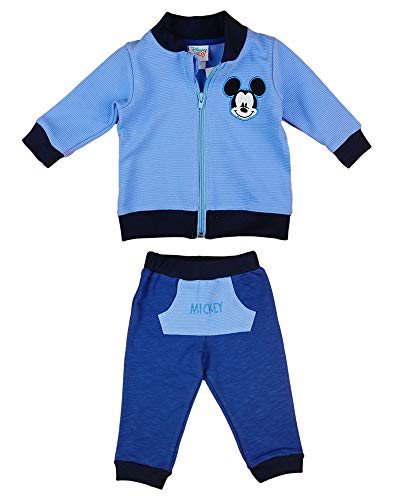 Chándal de 2 piezas para niño de Disney, Mickey Mouse, tallas 68, 74, 80, 86, 92, 98, 104, 110, 116, de algodón, sudadera con capucha o chaqueta y pantalón Modelo 7 74 cm