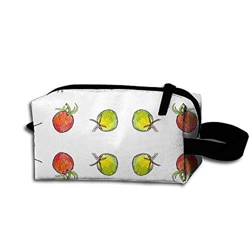 Travel Makeup Cherry Tomato Dots Beautiful Waterproof Cosmetic Bag Quick Makeup Bag Pencil Case