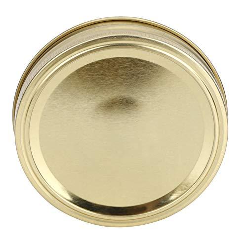 Uxsiya Tapas de cristal del tarro que sellan las cubiertas a prueba de fugas Split-Type para el hogar para la miel (XH00179 oro)